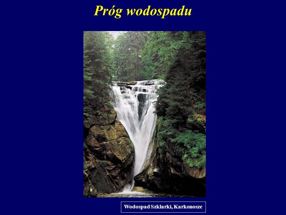 Próg wodospadu Wodospad Szklarki, Karkonosze