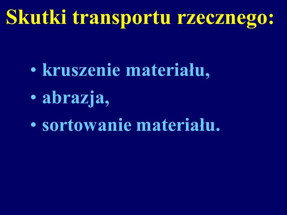 Skutki transportu rzecznego: