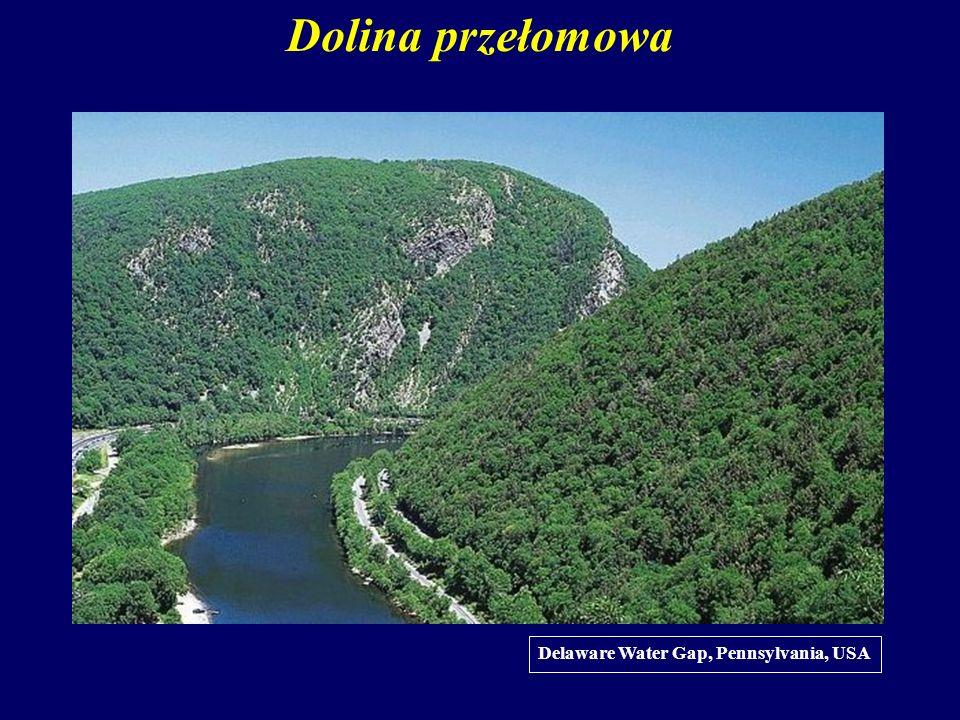 Dolina przełomowa Delaware Water Gap, Pennsylvania, USA