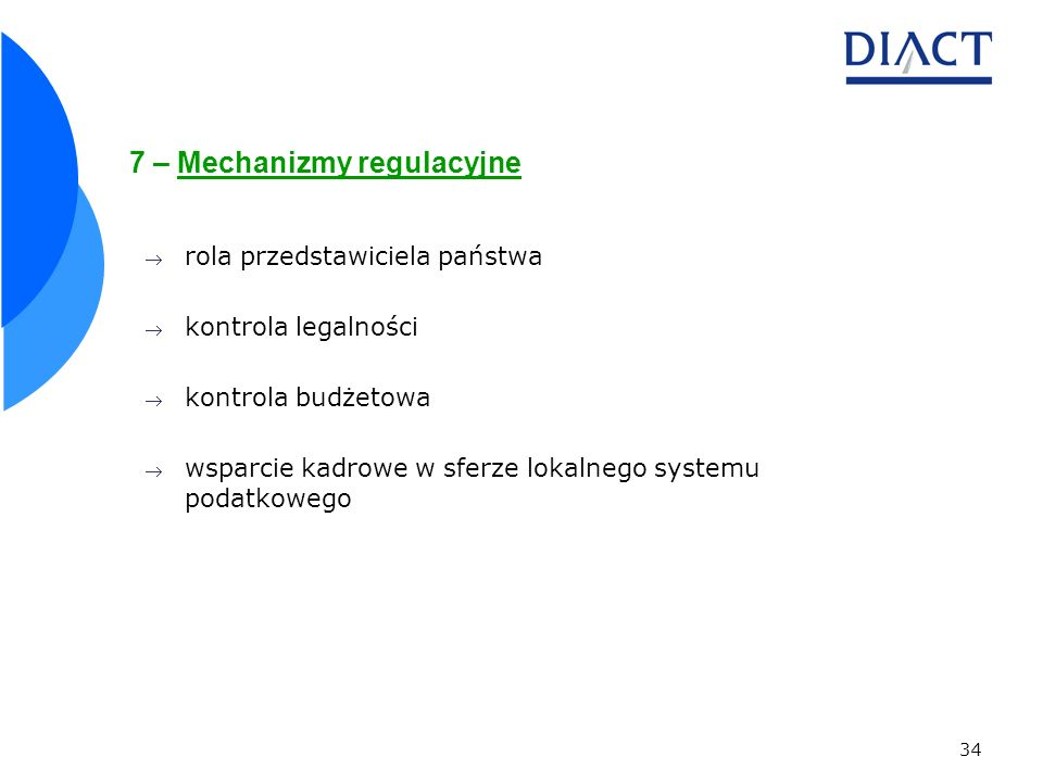 7 – Mechanizmy regulacyjne