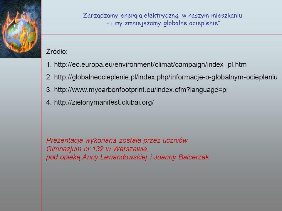Źródło: http://ec.europa.eu/environment/climat/campaign/index_pl.htm
