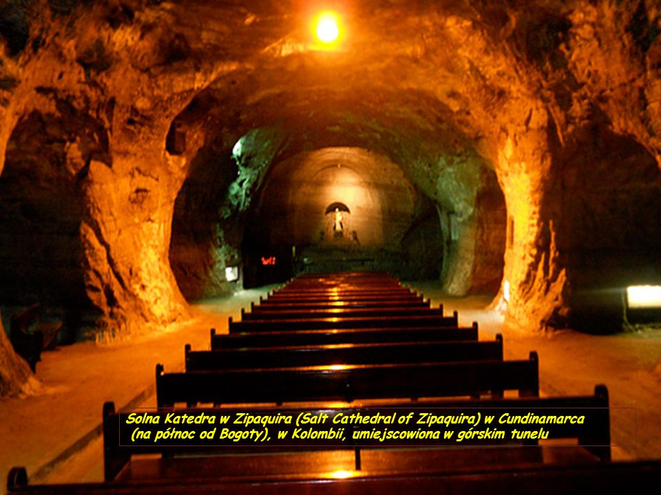 Solna Katedra w Zipaquira (Salt Cathedral of Zipaquira) w Cundinamarca
