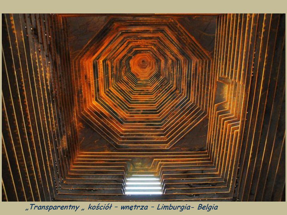 """""""Transparentny """" kościół – wnętrza – Limburgia- Belgia"""