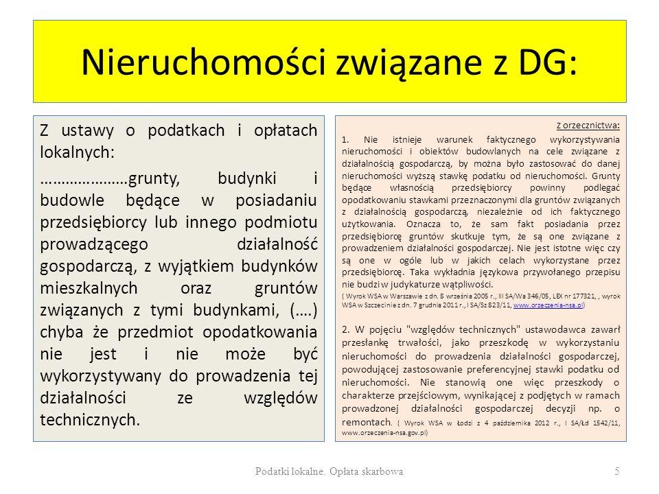Nieruchomości związane z DG: