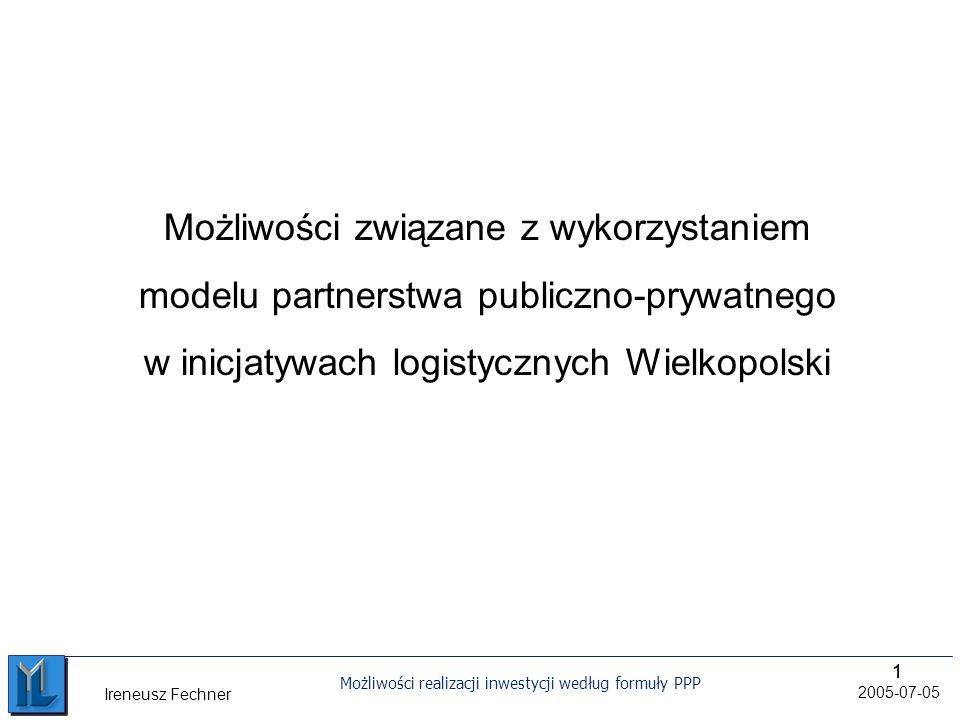 Możliwości związane z wykorzystaniem modelu partnerstwa publiczno-prywatnego w inicjatywach logistycznych Wielkopolski