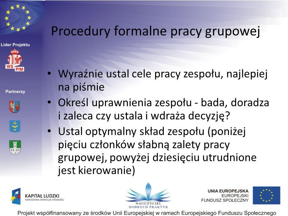 Procedury formalne pracy grupowej