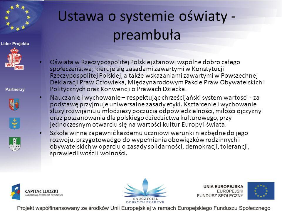 Ustawa o systemie oświaty - preambuła
