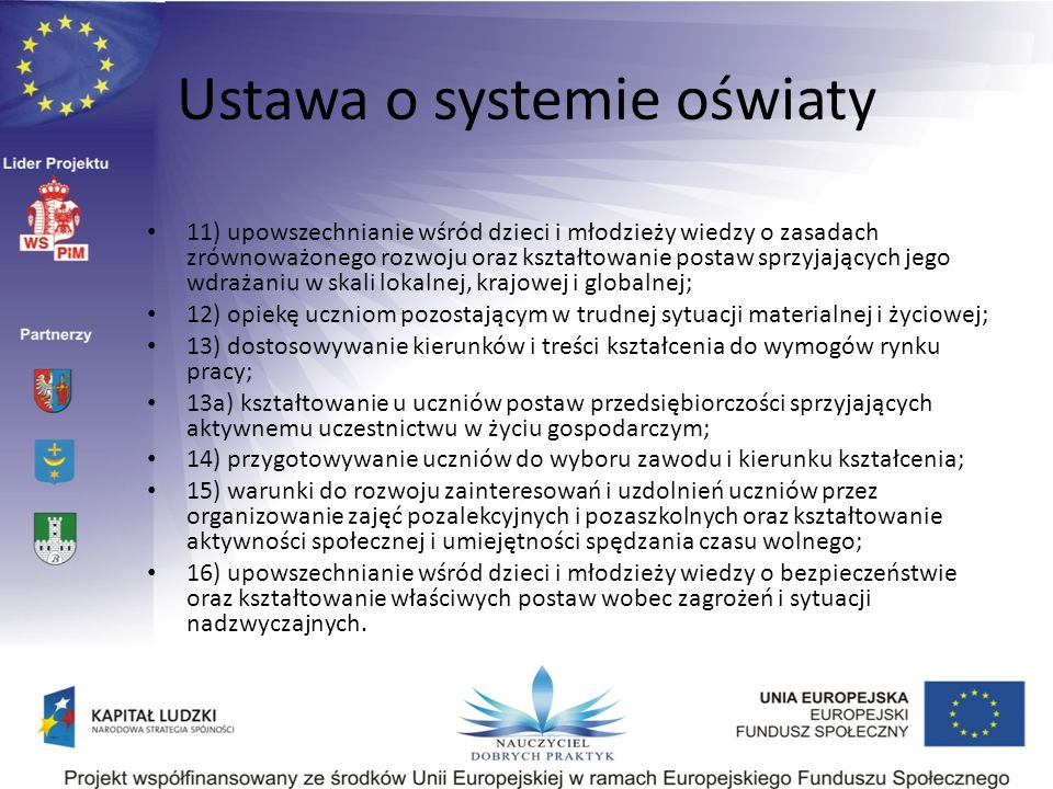 Ustawa o systemie oświaty