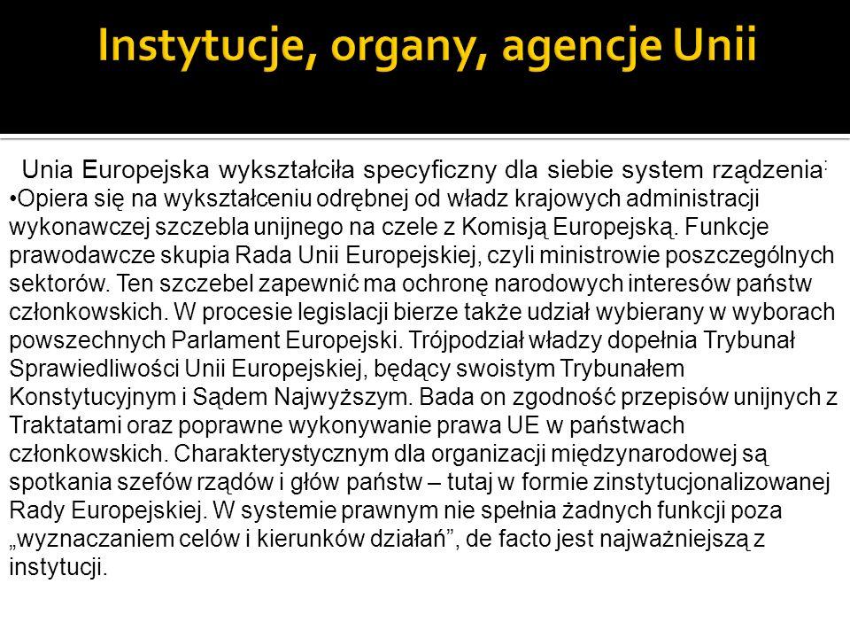 Instytucje, organy, agencje Unii