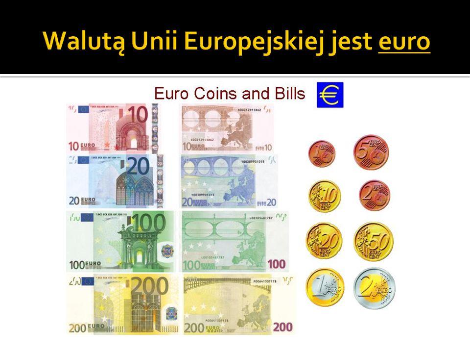 Walutą Unii Europejskiej jest euro
