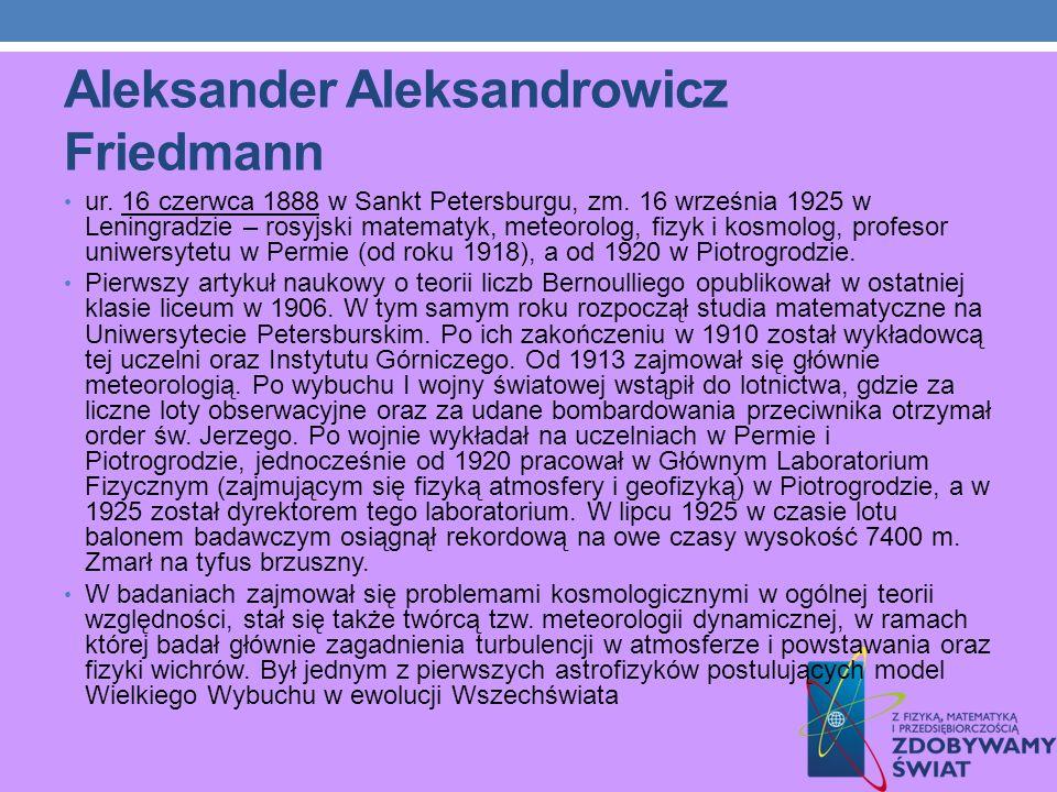 Aleksander Aleksandrowicz Friedmann