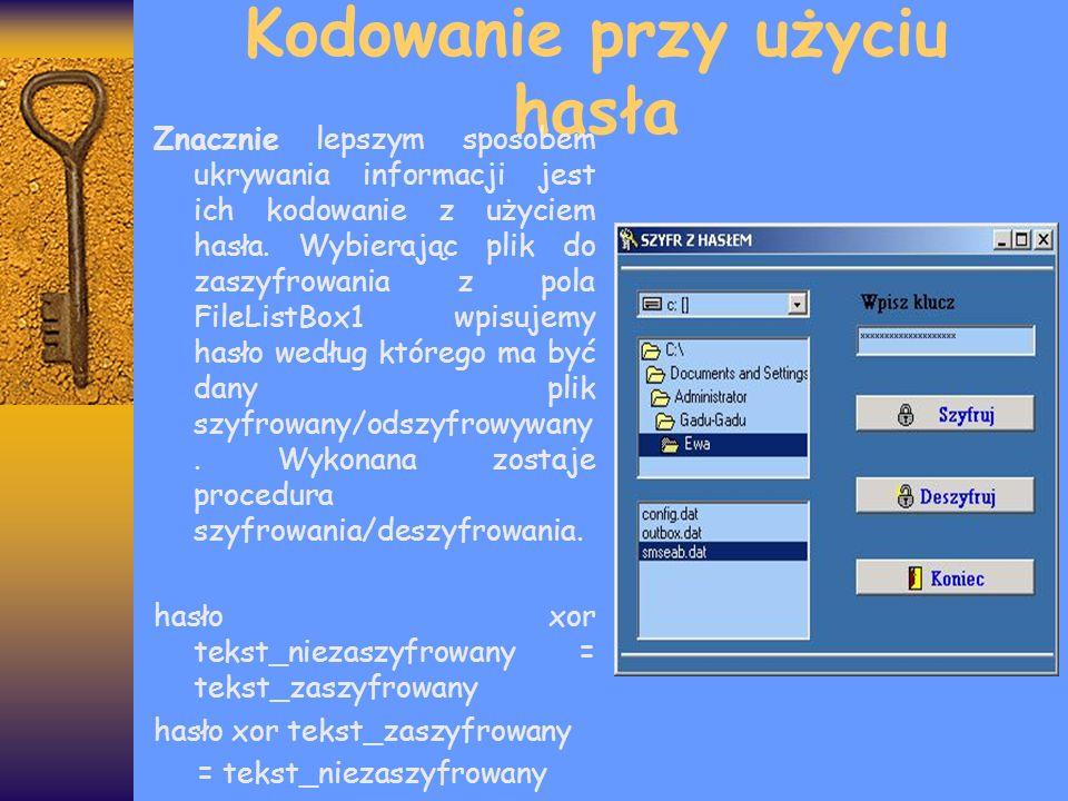Kodowanie przy użyciu hasła