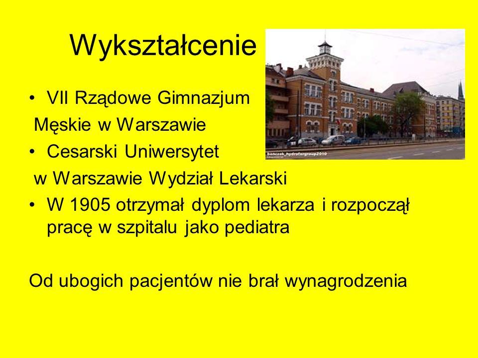 Wykształcenie VII Rządowe Gimnazjum Męskie w Warszawie