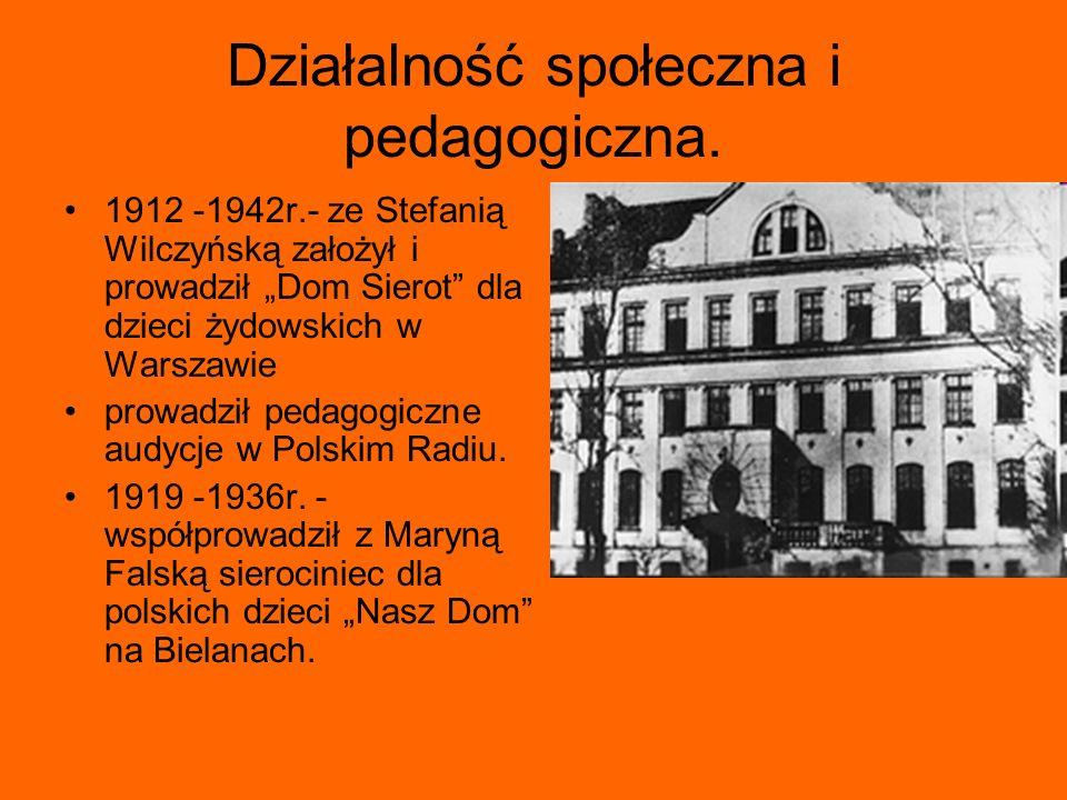 Działalność społeczna i pedagogiczna.