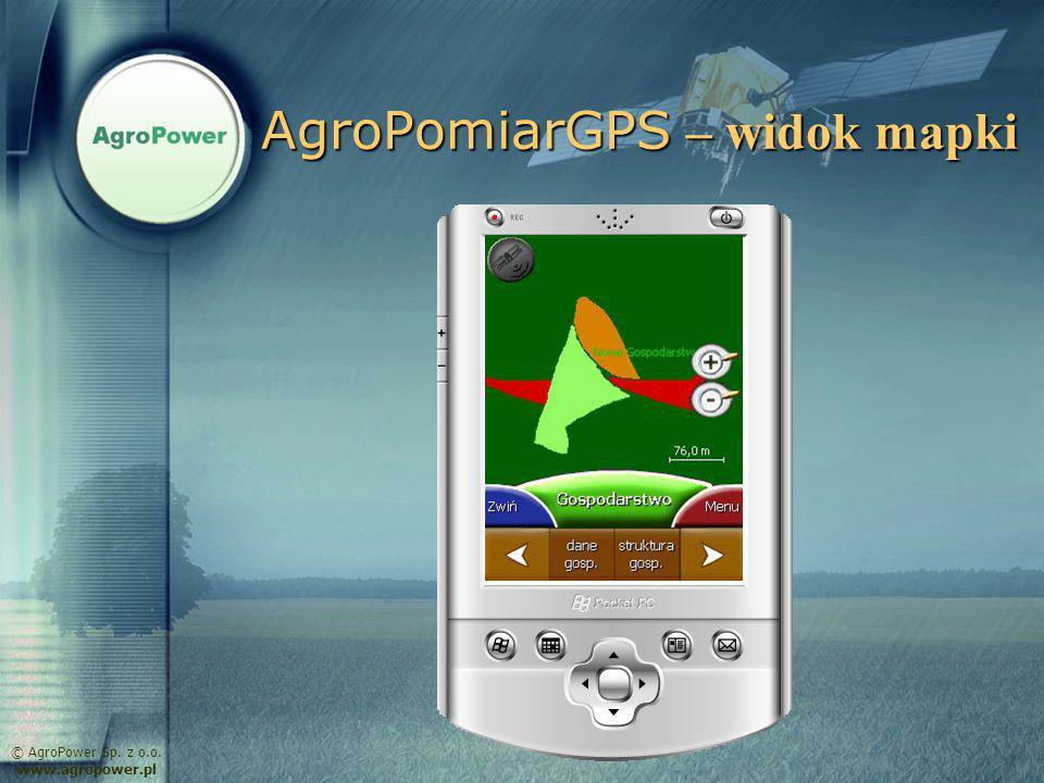 AgroPomiarGPS – widok mapki