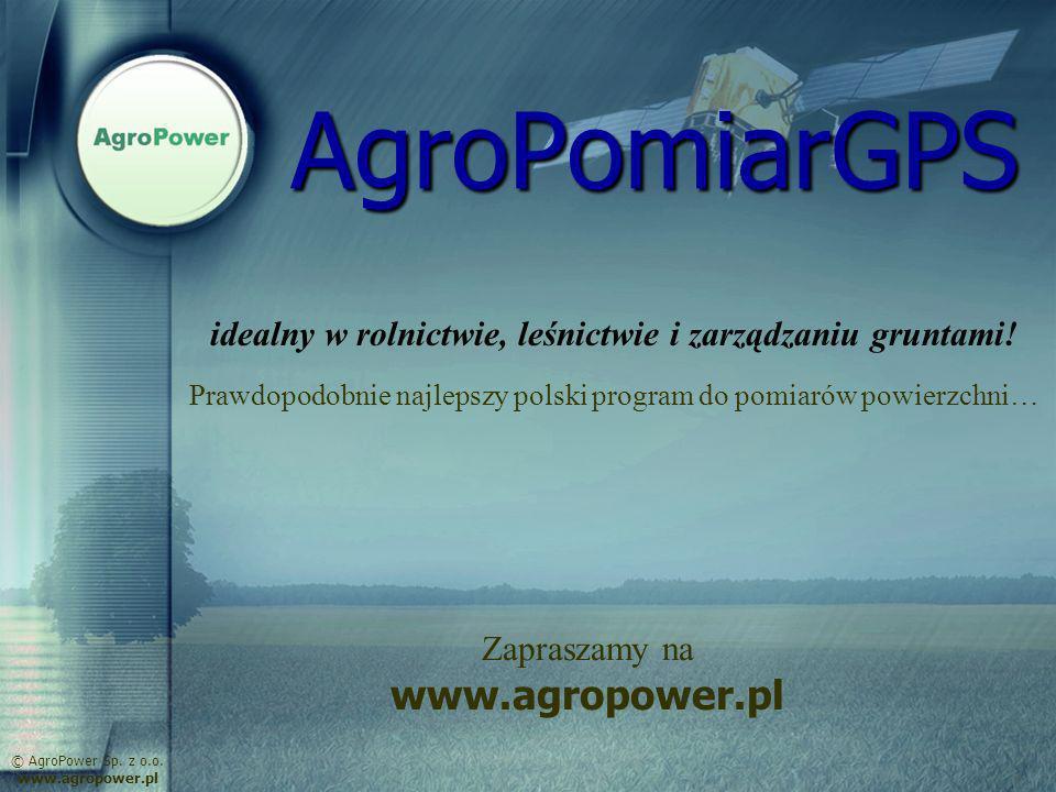 AgroPomiarGPS www.agropower.pl