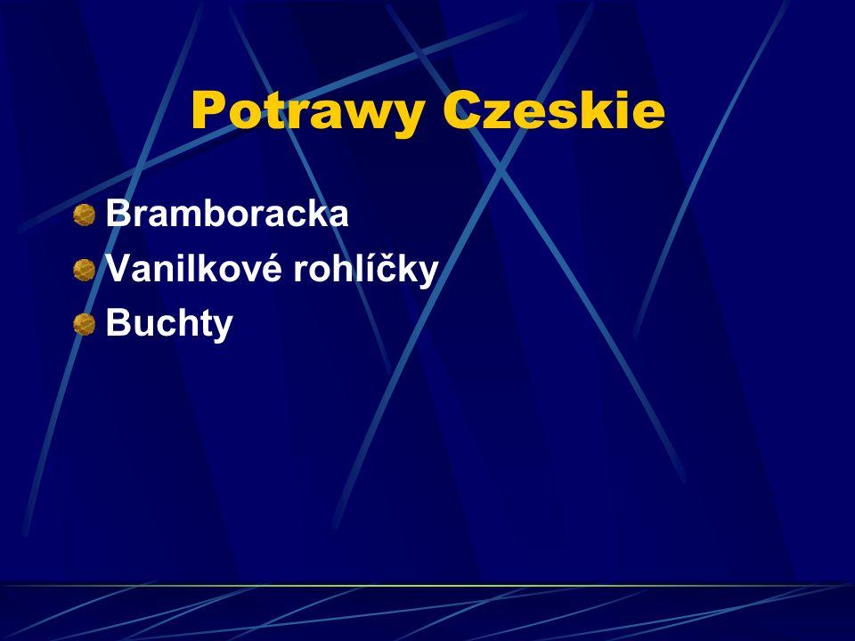 Potrawy Czeskie Bramboracka Vanilkové rohlíčky Buchty