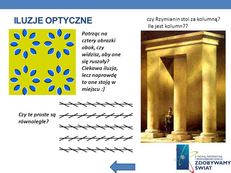 Iluzje optyczne czy Rzymianin stoi za kolumną Ile jest kolumn