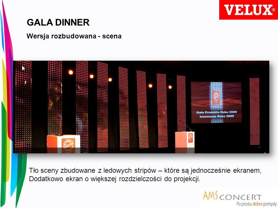 GALA DINNER Wersja rozbudowana - scena