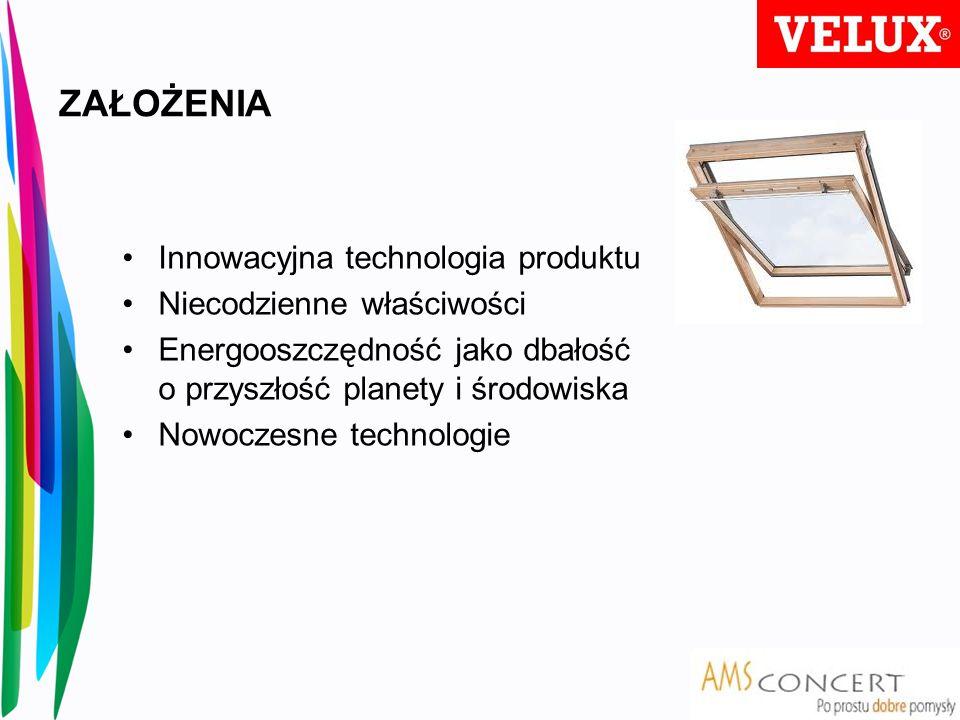 ZAŁOŻENIA Innowacyjna technologia produktu Niecodzienne właściwości