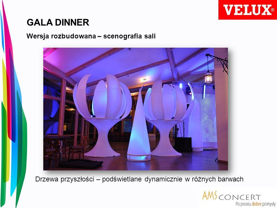 GALA DINNER Wersja rozbudowana – scenografia sali