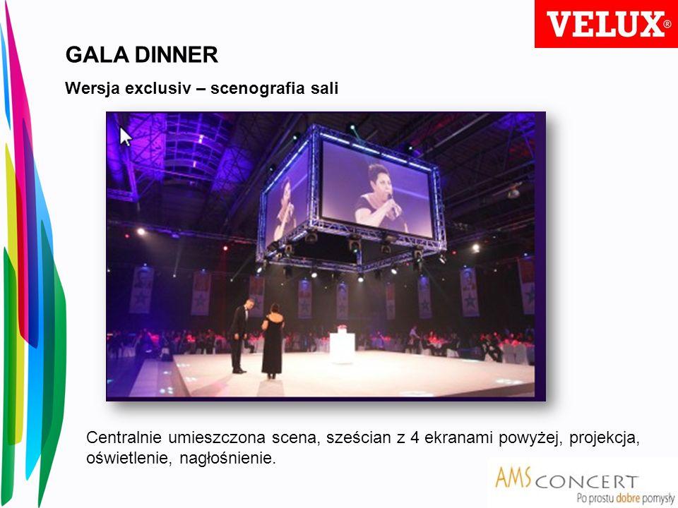 GALA DINNER Wersja exclusiv – scenografia sali