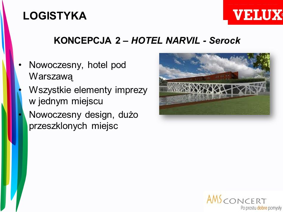 LOGISTYKA KONCEPCJA 2 – HOTEL NARVIL - Serock