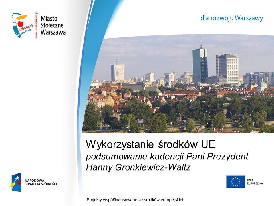 Wykorzystanie środków UE podsumowanie kadencji Pani Prezydent Hanny Gronkiewicz-Waltz