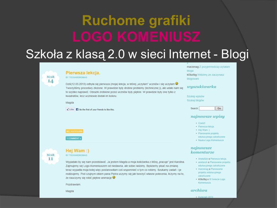 Szkoła z klasą 2.0 w sieci Internet - Blogi