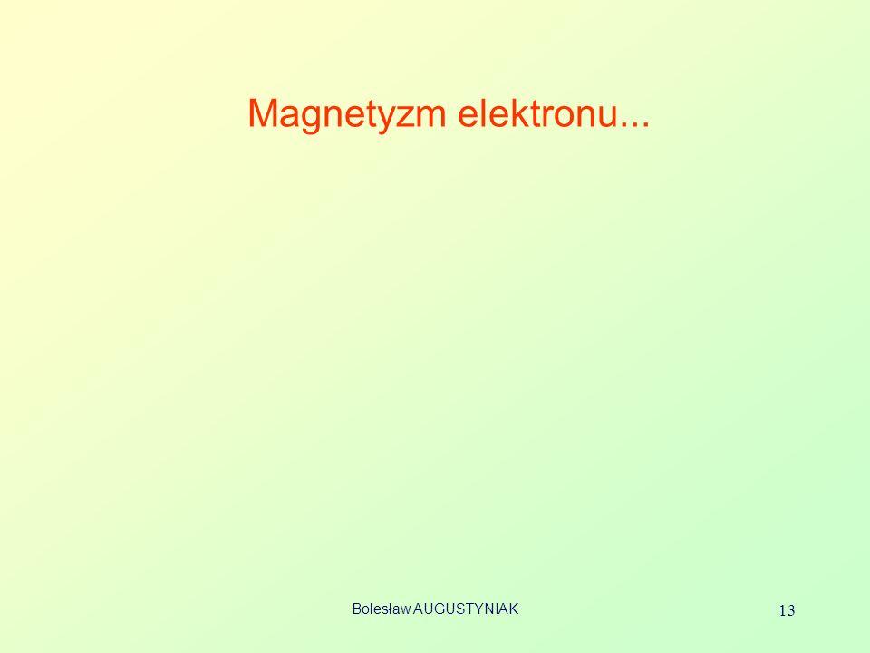 Magnetyzm elektronu... Bolesław AUGUSTYNIAK