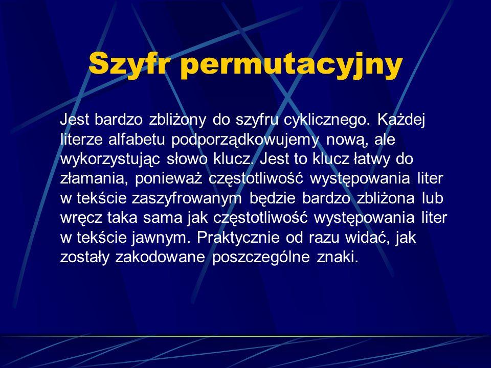 Szyfr permutacyjny