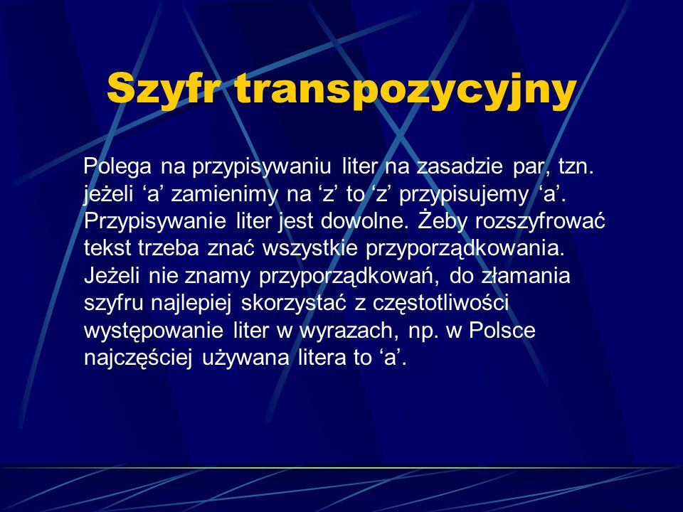 Szyfr transpozycyjny
