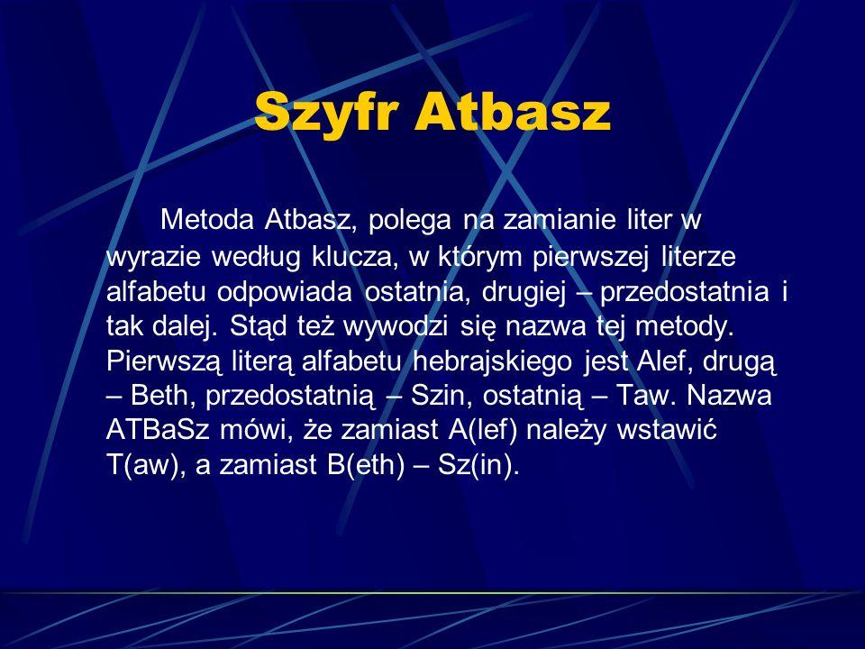 Szyfr Atbasz