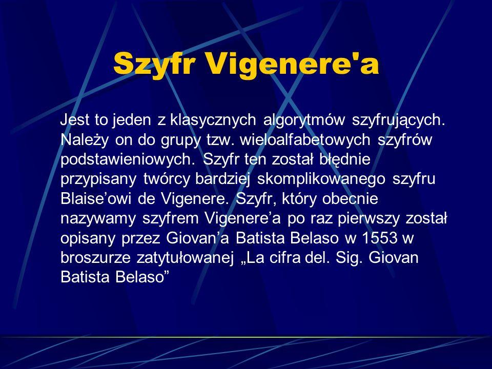 Szyfr Vigenere a