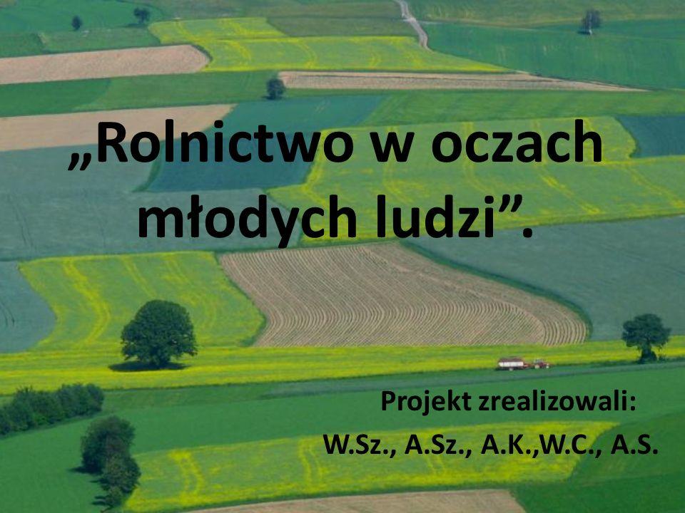 """""""Rolnictwo w oczach młodych ludzi ."""