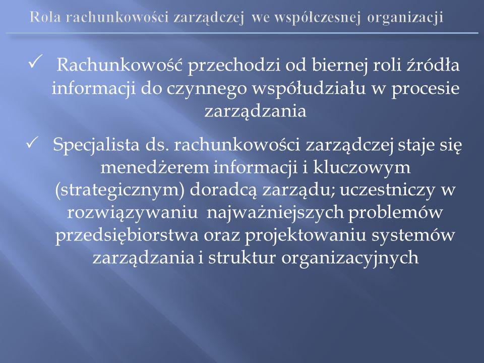 Rola rachunkowości zarządczej we współczesnej organizacji