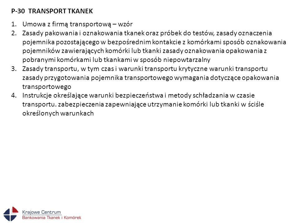 P-30 TRANSPORT TKANEK Umowa z firmą transportową – wzór.