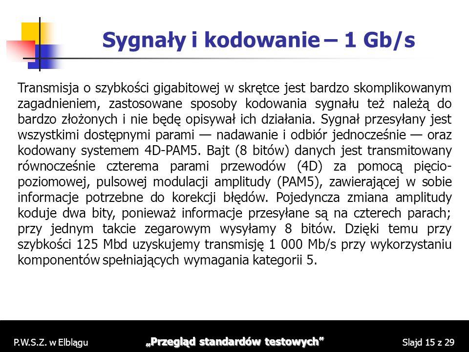 Sygnały i kodowanie – 1 Gb/s