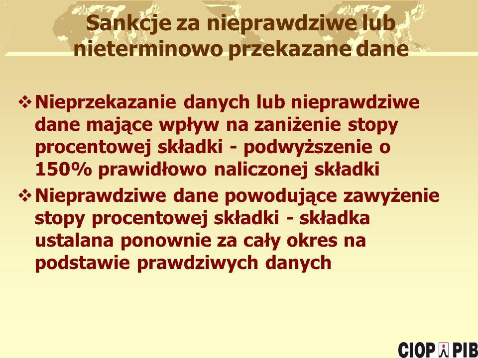 Sankcje za nieprawdziwe lub nieterminowo przekazane dane
