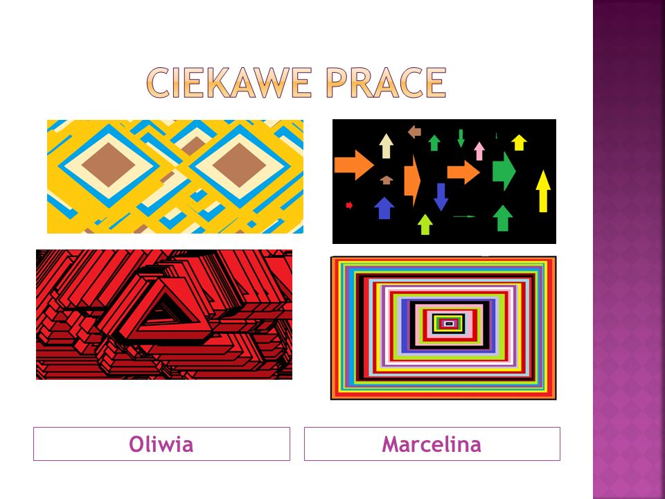 Ciekawe prace Oliwia Marcelina