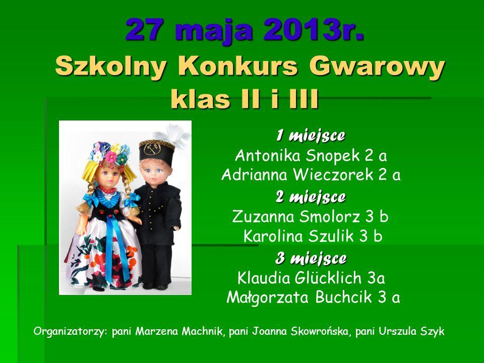 27 maja 2013r. Szkolny Konkurs Gwarowy klas II i III