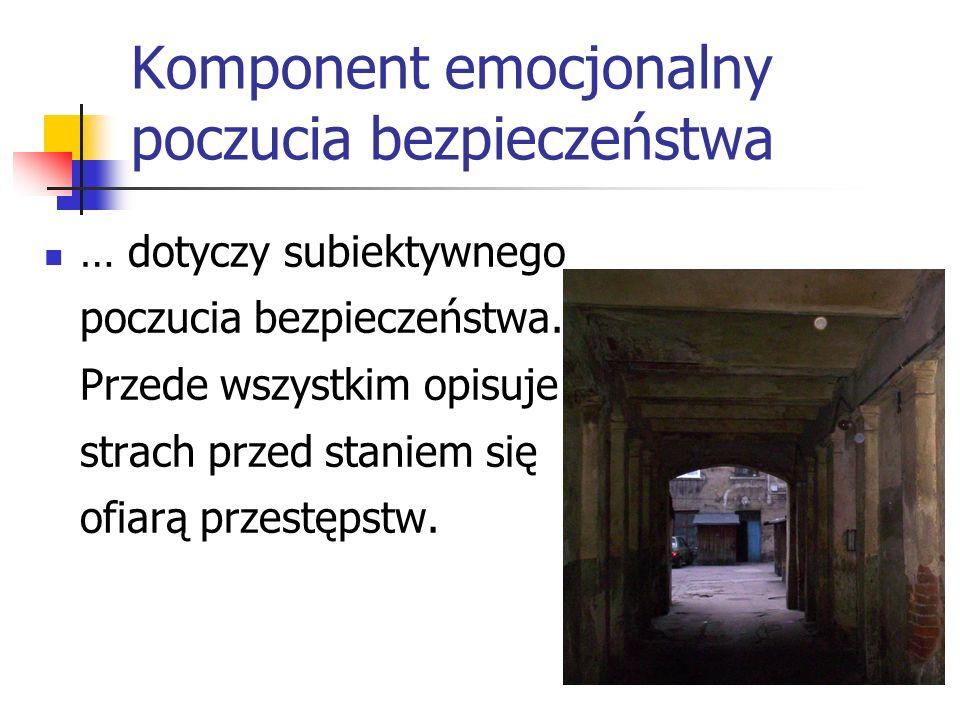 Komponent emocjonalny poczucia bezpieczeństwa