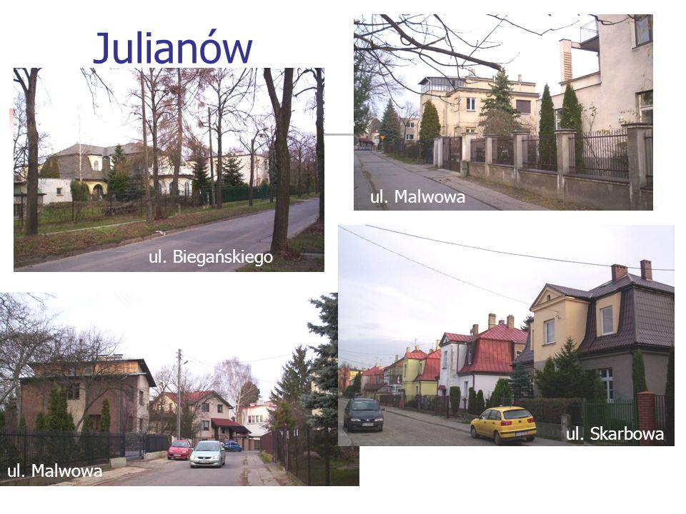 Julianów ul. Malwowa ul. Biegańskiego ul. Skarbowa ul. Malwowa