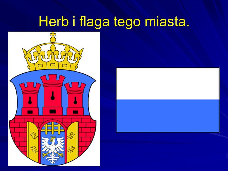 Herb i flaga tego miasta.