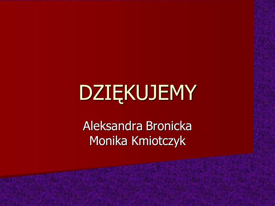 Aleksandra Bronicka Monika Kmiotczyk