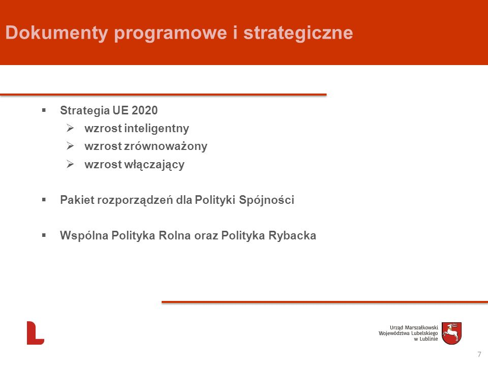 Dokumenty programowe i strategiczne