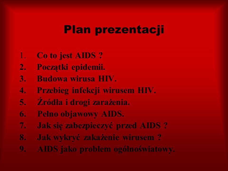 Plan prezentacji Co to jest AIDS Początki epidemii.