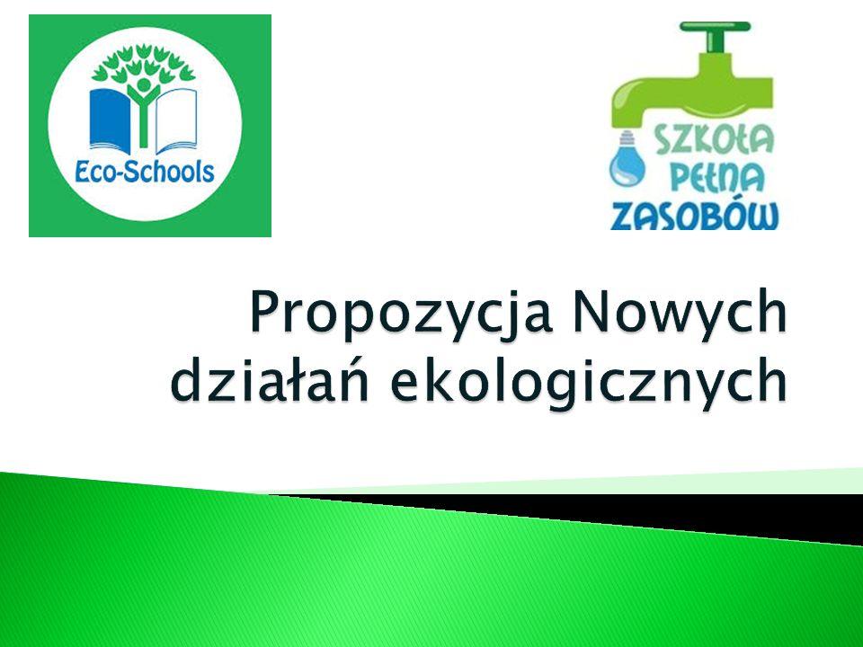 Propozycja Nowych działań ekologicznych