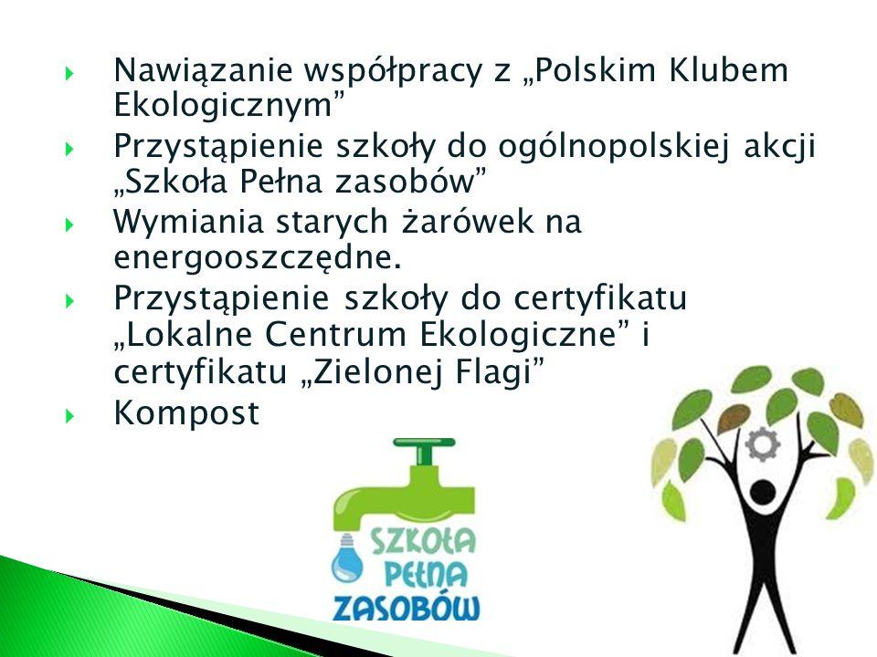 """Nawiązanie współpracy z """"Polskim Klubem Ekologicznym"""