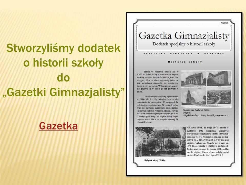 """""""Gazetki Gimnazjalisty"""